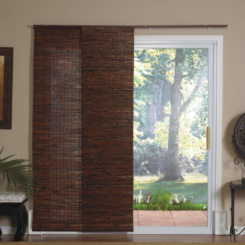 Radiance Panel Track Bamboo Blind in Java Mahogany - Modern - Window Blinds - by Nilima Home
