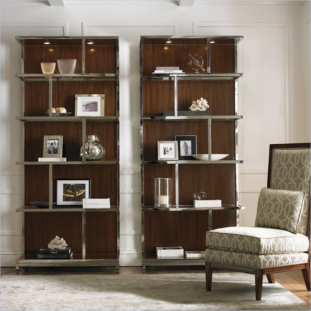 Lexington Mirage Kelly Wall Bookcase in Cashmere Finish - Modern - Bookcases - vancouver - by Cymax