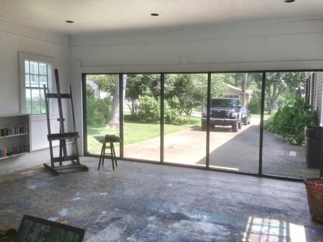 Garage turned art studio modern jackson by concepts for Garage con studio