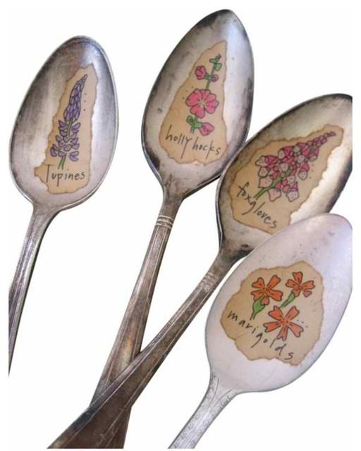 Garden Plant Garden Spoon Markers mediterranean-gardening-accessories