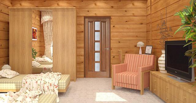 Oak Interior Door with Frosted Gass interior-doors