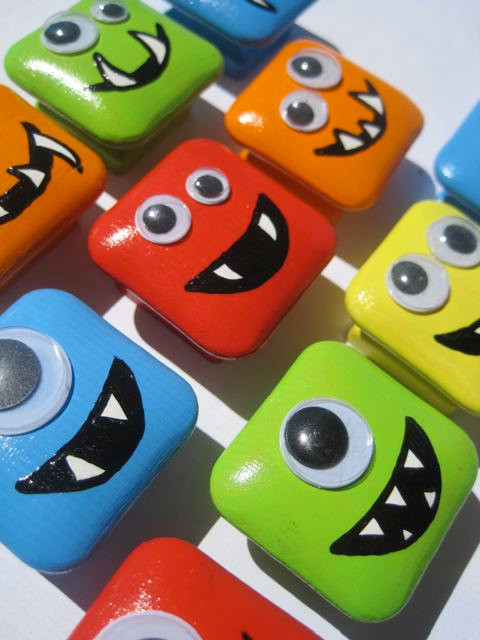 Monsters Square Drawer Knobs by DaRosa Creations eclectic-knobs
