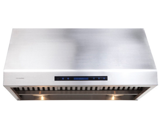 "Cavaliere - Cavaliere AP238-PS81 30"" Under Cabinet Range Hood - Cavaliere Stainless Steel 360W Under Cabinet Range Hood with 4 Speeds, Timer, LCD Keypad, Stainless Steel Baffle Filters, Heat Lamps & Halogen Lights"