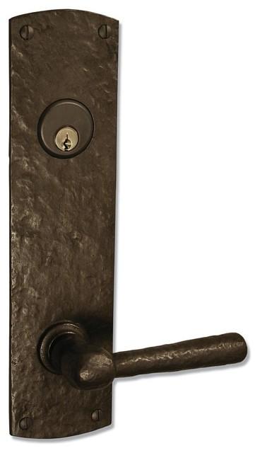 Coastal Bronze 220 Series Solid Bronze Tubular Latch & Bolt Door Entry Set - Lar rustic-front-doors