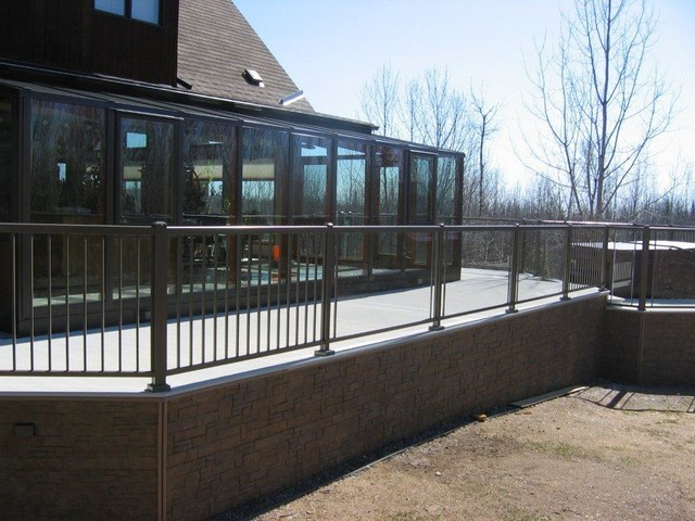Waterproof Aluminum Decking And Railing Home Fencing And