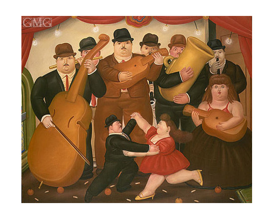 Ball in Colombia | Botero | Painting Reproduction -