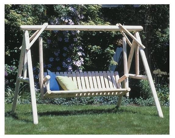 100 inch wide cedar garden swing set contemporary