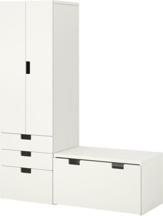 STUVA Storage combination with bench modern-kids-dressers-and-armoires