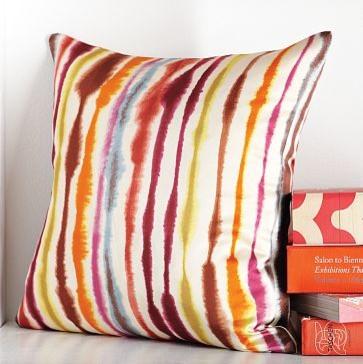 Tie Dye Stripe Pillow Cover | west elm contemporary-decorative-pillows