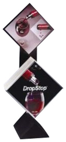 Dropstop� Wine Bottle Pourer System Starter Kit with Display Stand modern-wine-and-bar-tools