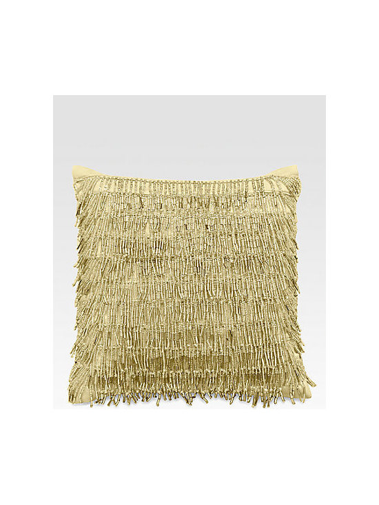 Donna Karan Modern Classics Beaded Fringe Decorative Pillow -