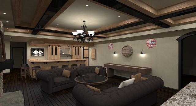 Basement Pub Sports Bar - Traditional - Rendering - ottawa - by ...