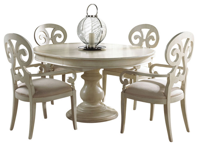 Summer Home Round Dining Table Traditional Dining