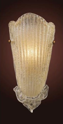 Providence Antique Gold Leaf One-Light Wall Sconce traditional-wall-sconces