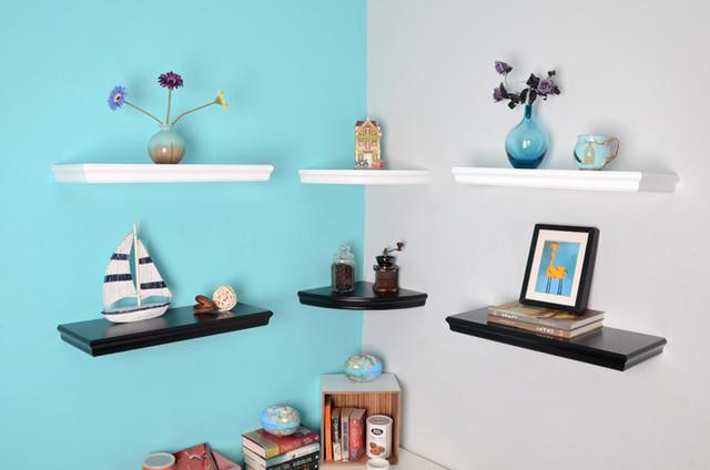Trenton Floating Shelves, Corner Shelving - Modern ...