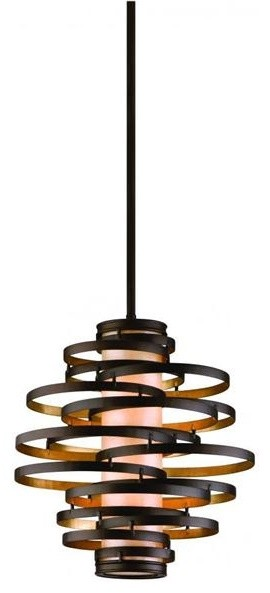 Corbett Lighting 113-42 Six Light Gold Down Pendant  pendant lighting