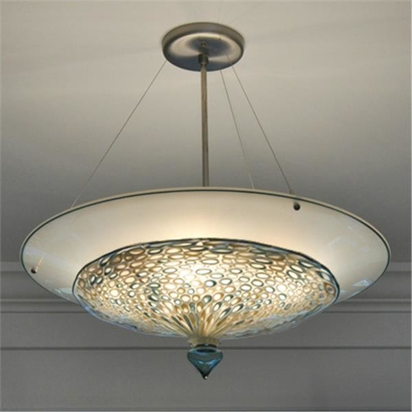 Pebble Murrini 2 Part Blown Glass Pendant Bowl Light