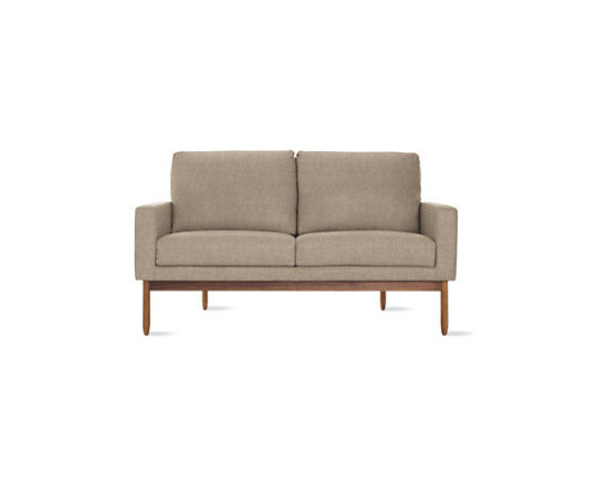 Raleigh Two Seater - Wool - Design Within Reach - This mid-century modern inspired sofa has clean lines that look great with many styles of today's decor. The 2-seater size is great for a tight space.