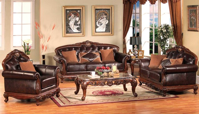 Traditional living room furniture traditional sofas for Traditional living room sets