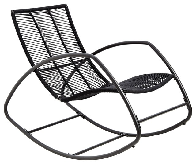 moretta metal black rocking chair contemporain rocking chair de jardin other metro par b q. Black Bedroom Furniture Sets. Home Design Ideas