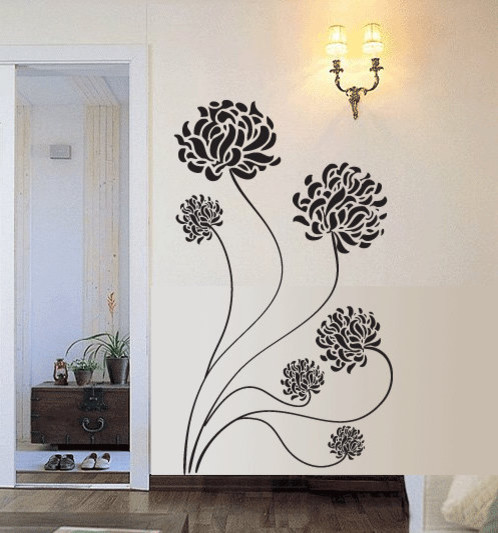 Chrysanthemum Flower Vinyl Wall Decal by 7 Decals contemporary-wall-decals