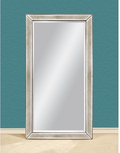 Tylene leaning wall mirror 44w x 79h in contemporary for Leaning wall mirror