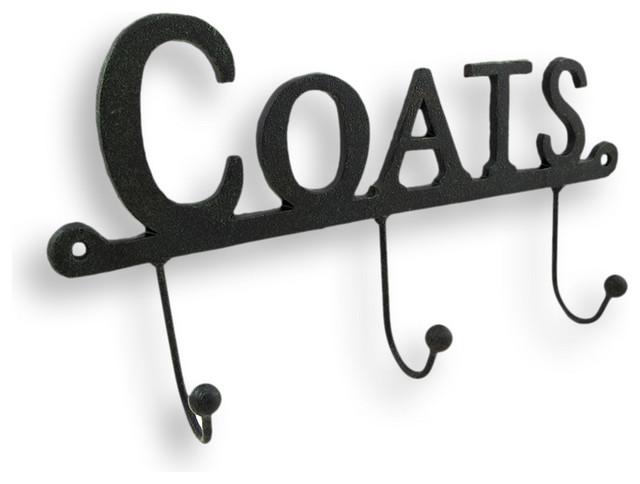 Cast Iron 'Coats' Wall Hooks rustic-wall-hooks
