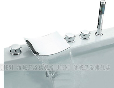NEW**Tub shower faucet with handshower chrome finish WJT-1 modern-showers