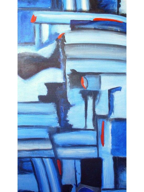 Night Fishing on the Antibes - Acrylic on canvas, 4' x 7'.