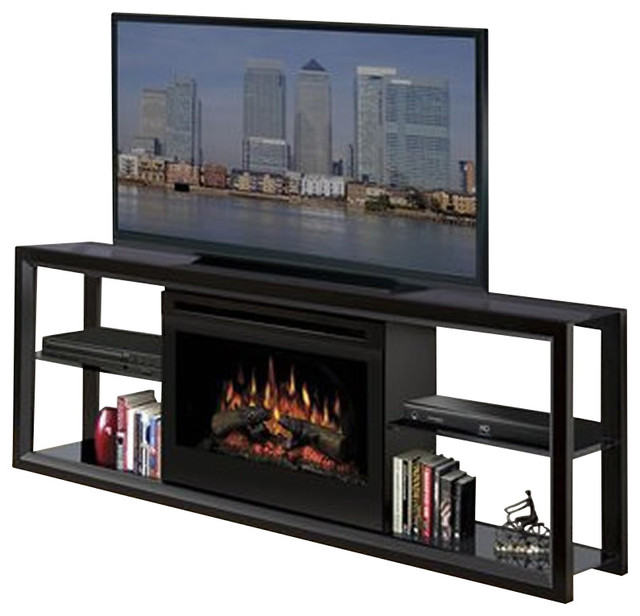 Dimplex Novara Tv Stand With Electric Fireplace In Multiple Finishes Modern Media Storage