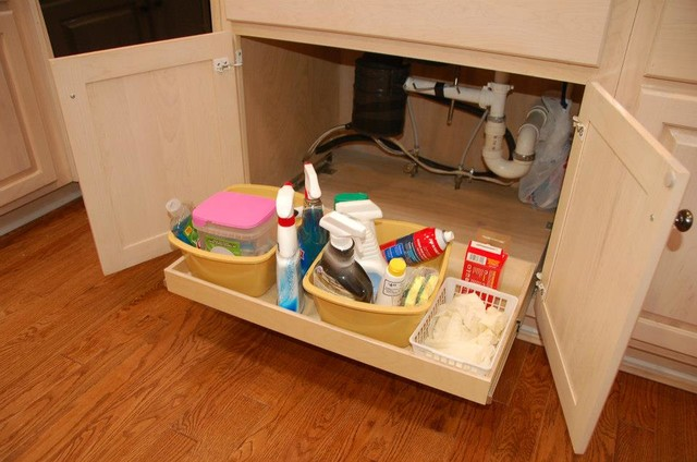 Under-Sink Pull Out Shelves - Traditional - louisville - by ShelfGenie of Kentucky