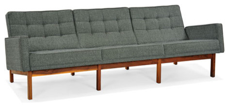 Split Rail Couch With Arms modern sofas