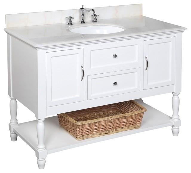 48 Farmhouse Sink : 48-in Bath Vanity (White/White) farmhouse-bathroom-vanities-and-sink ...