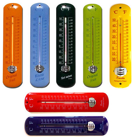 enamel thermometer eclectic decorative thermometers by basic french. Black Bedroom Furniture Sets. Home Design Ideas