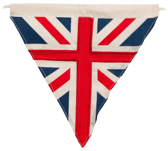 Traditional Union Jack Bunting contemporary kids decor