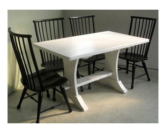 Black High Back Black Forest Dining Chair - Made by http://www.ecustomfinishes.com