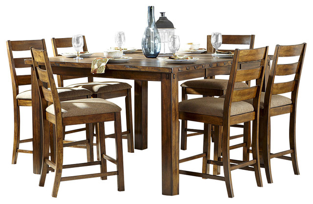 Counter Height Rustic Dining Sets : ... Piece Counter Height Table Set in Burnished Rustic rustic-dining-sets
