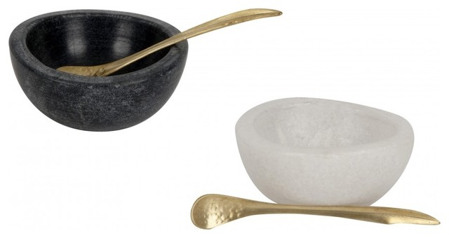 Marble Salt And Pepper Cellars modern serveware