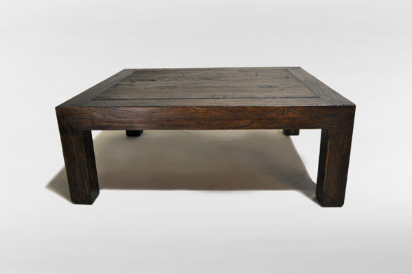 Chinese solid elm wood coffee table eclectic coffee for Coffee table wood