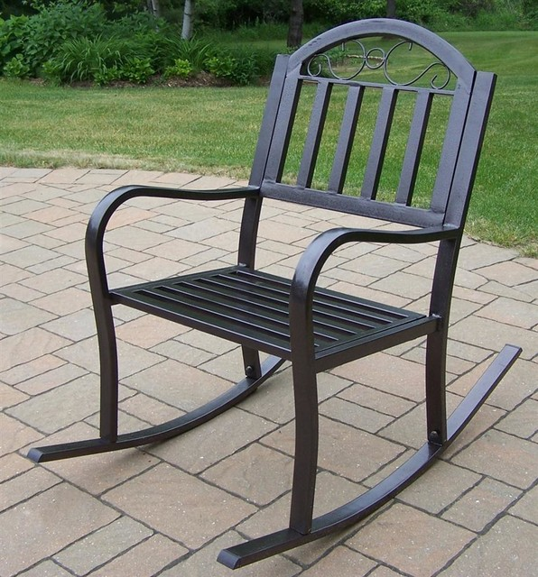 Outdoor Rocking Chair Traditional Outdoor Rocking Chairs By IvgStores