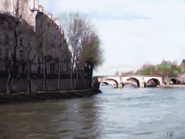 SEINE SPRING Artwork traditional-prints-and-posters