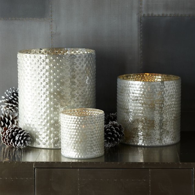 Dotted Mercury Hurricanes contemporary-candles-and-candle-holders