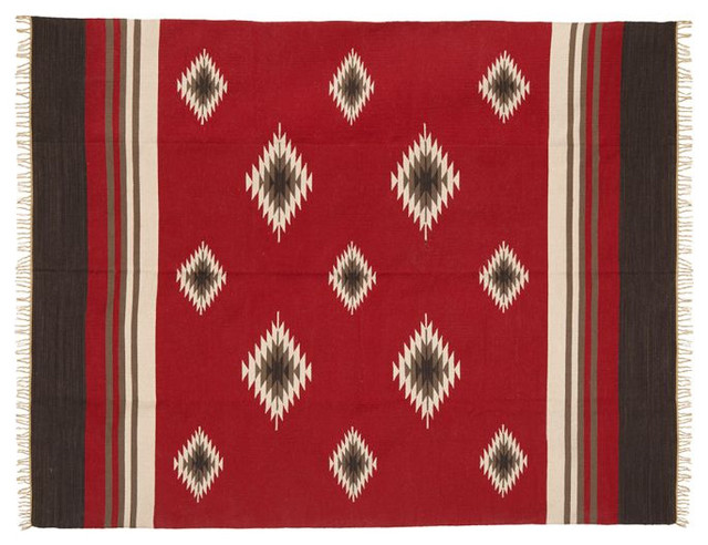 Red Diamond Recycled Yarn Indoor/Outdoor Rug eclectic-outdoor-rugs