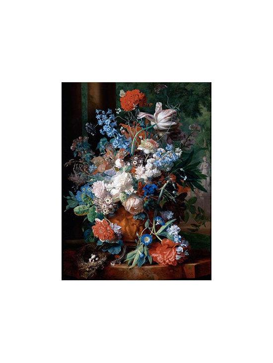 Bouquet of Flowers Against a Park Landscape | Huysum | Canvas Print - Condition: Canvas Print - Unframed