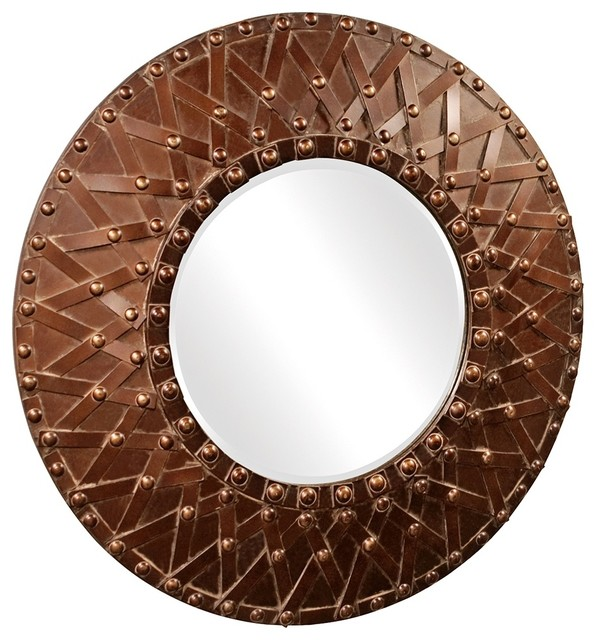 "Traditional Howard Elliott Collection 32"" Round Wagner Wall Mirror traditional mirrors"