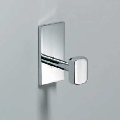 Glue L 313 Robe Hook without Screws in Chrome contemporary-wall-hooks