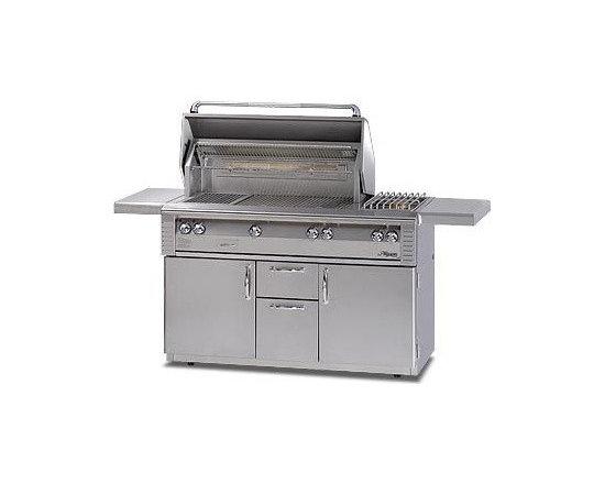 Alfresco 56'' Lx2 Grill On Cart, Stainless Steel Liquid Propane | ALX256SZRFG-LP -