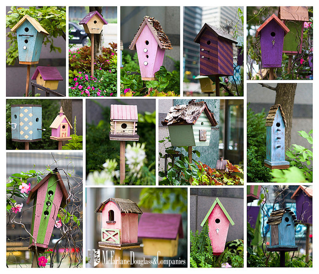 Bird House Landscaping Project on Wacker Chicago shabby-chic