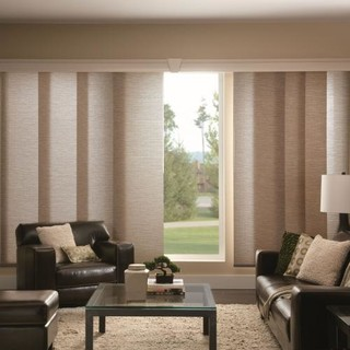Bali Fabric Sliding Panels Contemporary Vertical