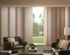 Bali Fabric Sliding Panels contemporary vertical blinds